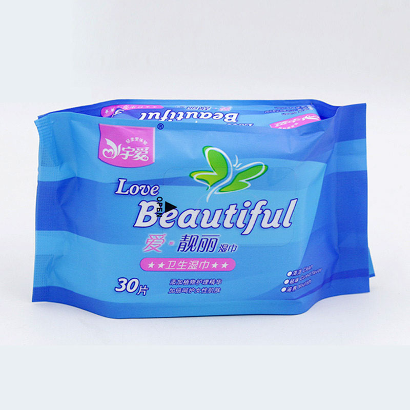 30pcs*3 Bags Women Health Wipes Feminine Hygiene Products Pa