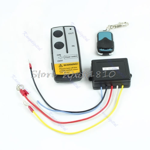 Wireless Remote Control Kit 24V Handset For Truck Jeep ATV SUV Winch Warn Ramsey Z09 Drop ship