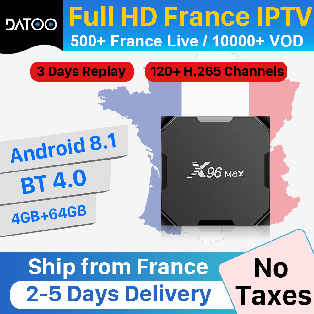 X96 max IPTV France Arabic IPTV Spain Portugal UAE IPTV Subscription Morocco IP TV Algeria Germany IP TV Turkey Full HD French-in Set-top Boxes from Consumer Electronics