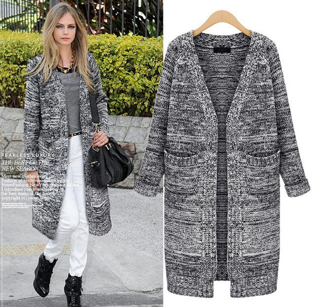 next cardigans women sweater casual knitted cardigan long warm ...