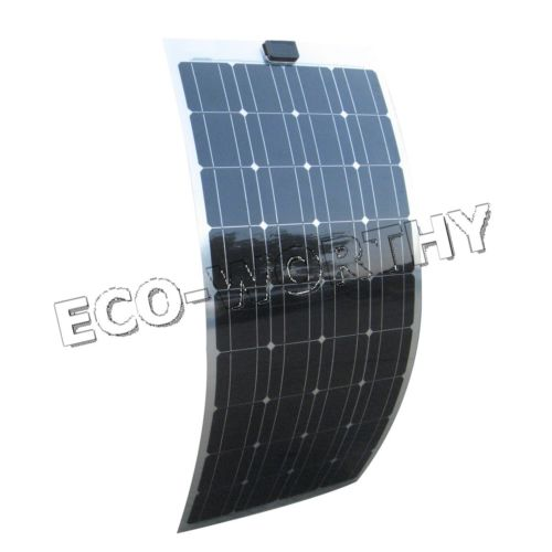 100W 18V Monocrystalline Flexible Solar Panel for Caravan Yacht Home Bicycle Solar Generators high conversion rate and high efficiency output 18v 100w monocrystalline solar panel semi flexible diy solar module for boat rv