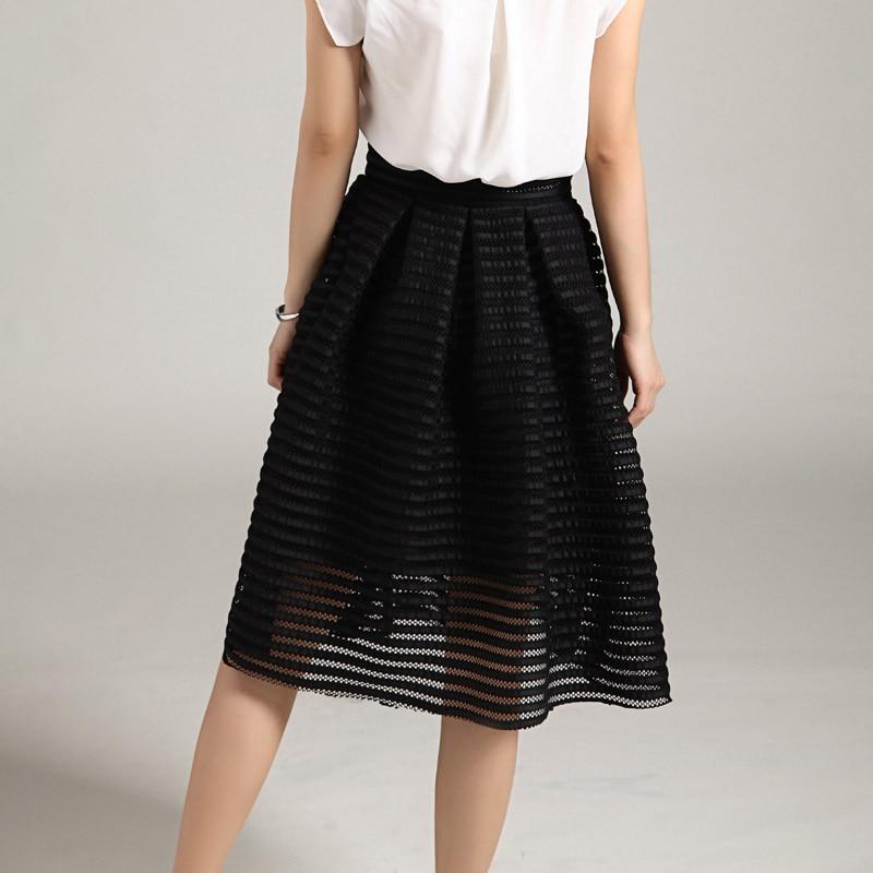MWSFH Sommer Ny Style Sexy Mode Nederdel Kvinder Stribet Hollow-out - Dametøj - Foto 6
