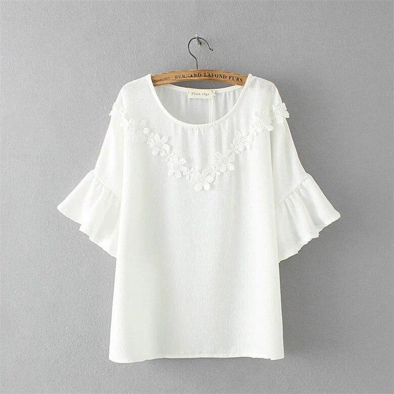 2017 Mujeres de La Mariposa de La Manga Casual Camiseta A Rayas y Negro blanco O