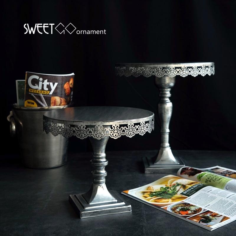 SWEETGO Soporte de pastel de plata para herramientas de decoración - Cocina, comedor y bar