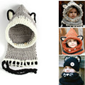 Baby Hats & Caps Cat Ear Shawl Winter Children Handmade Knitted Beanie