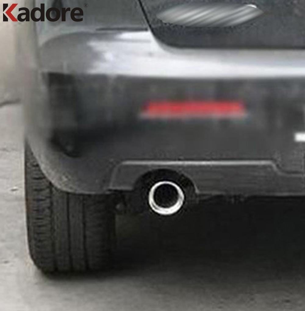 For Mazda 3 M3 2004 2008 2009 2010 2011 Tail Exhaust Muffler Tip Rear Trunk End Pipe Silencer Cover Stainless Steel Car Styling