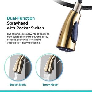 Image 2 - Golden Trek Keukenkraan Pull Down Spray Keuken Mengkraan Enkel Handvat Mengkraan Swivel 360 Graden Keuken Mixer tap