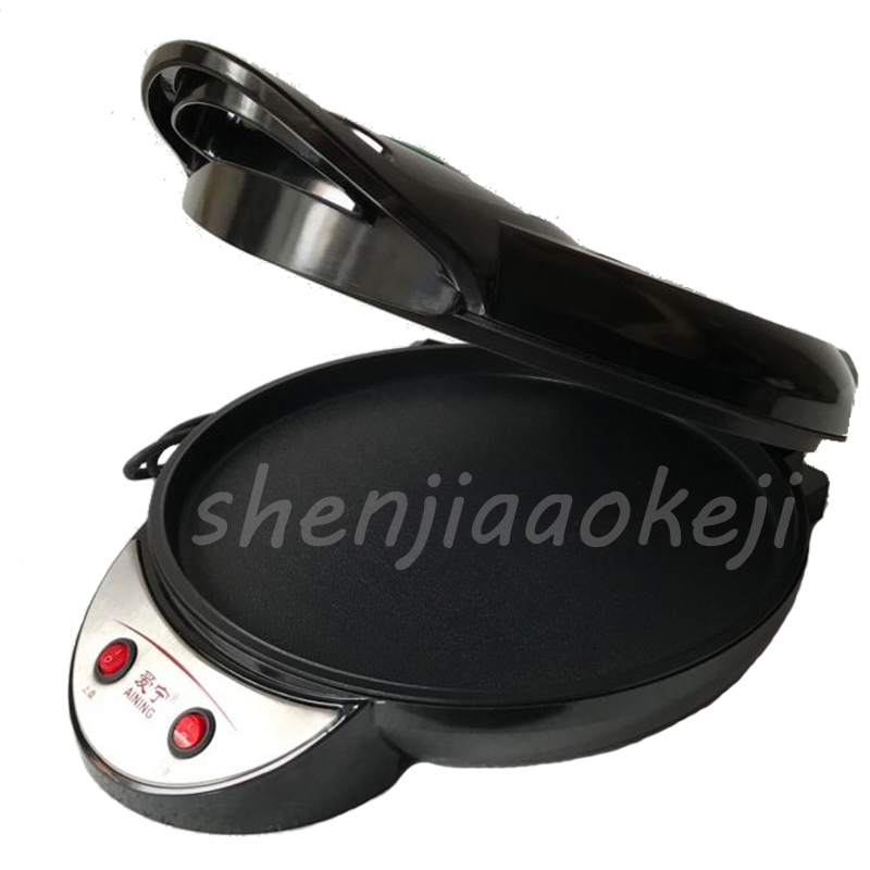35CM electric double-sided home heating pancake pan cake machine pancake machine waffle machinefried machine 220V 1350W jiqi automatic double heating pancake makers household electric baking pan pancake machine kitchen helper