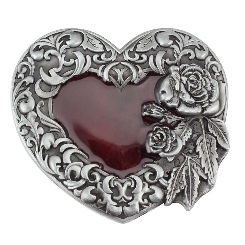 Heart-shaped Waist Belt Buckle Alloy Lead The Inner Diameter 4.0CM
