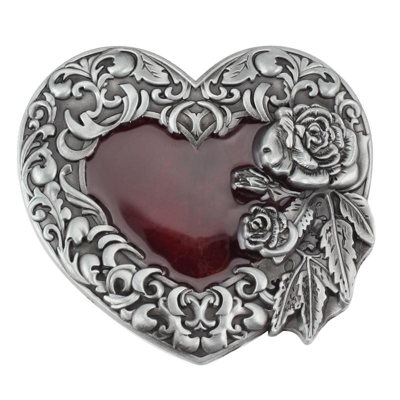 Heart-shaped Waist Belt Buckle Alloy Lead The Inner Diameter 4.0CM