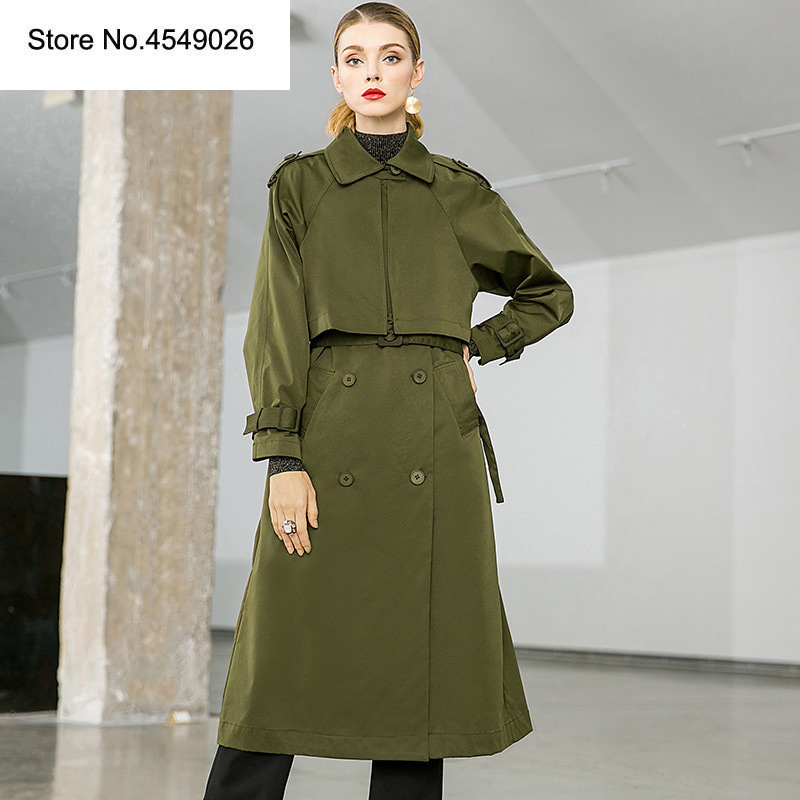 KAMIYING Brand Design Autumn Warm   Trench   Women Knee Length Cool Windbreaker Fashion Slim Fit Long Trenchcoat PKHC655