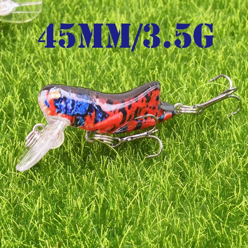 1pcs Insect Bionic Fishing Lure 45mm 3.5g Grasshopper Minnow Hard Baits Squid Artificial Swimbaits Bass Carp Pike Fishing Tackle-3