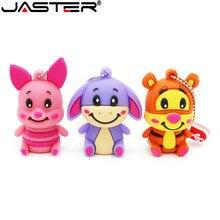 JASTER cute winnie bear pen drive Tigger Donkey usb flash animal pendrive 4GB 8GB 16GB 32GB 64GB cartoon memory stick