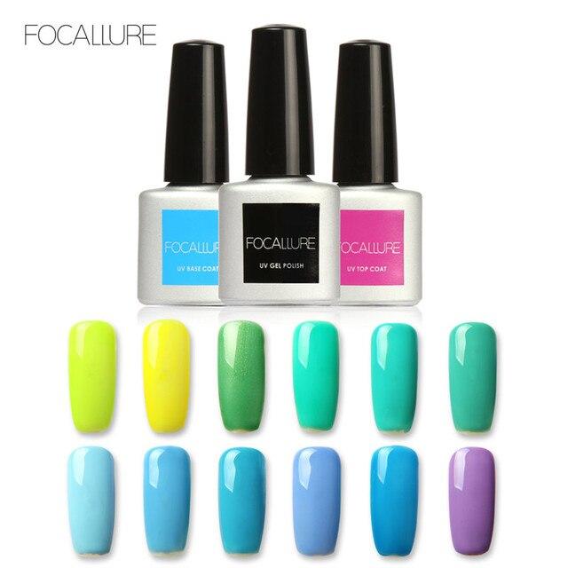 FOCALLURE 20 kolor 7 ML Soak Off Green Series żel polski LED UV lakiery żelowe do paznokci lakier podkładowe lakiery żelowe