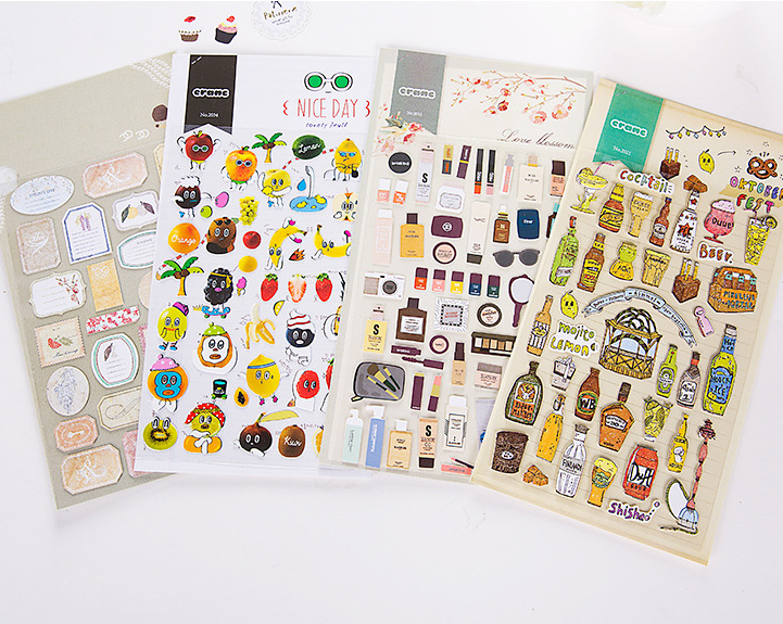 Kawaii food holiday animal sticker Planner Journal DIY Scrapbook Diary Phone Decoration Notebook Ablums Decorative