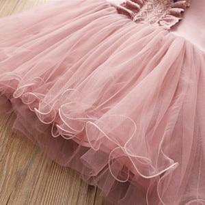 Image 5 - Fanfiluca Bé Cô Gái Ăn Mặc Ren Công Chúa Cô Gái Bên Đầm Dài Tay Áo Kids Dresses for Girls Trẻ Em Quần Áo