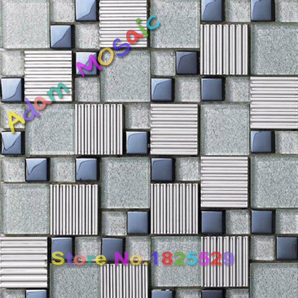 Cristal azul gris mezcla de bloques de vidrio pared del ba o backsplash baldosas de metro en de - Bloques de vidrio para bano ...