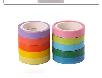 Creative Cute Rainbow Masking Washi Tape Japanese Decorative Adhesive Tape Diy Scrapbooking Tools Sticker Label 7.5mmx5m ca1434 vang gogh painting art decorative adhesive tape masking washi tape diy scrapbooking sticker label stationery