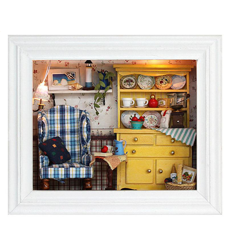 Buy Diy Doll House Wooden Doll Houses Miniature Diy Dollhouse Furniture Kit