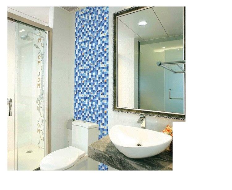 Conchiglia di mare di vetro blu mosaico cucina backsplash