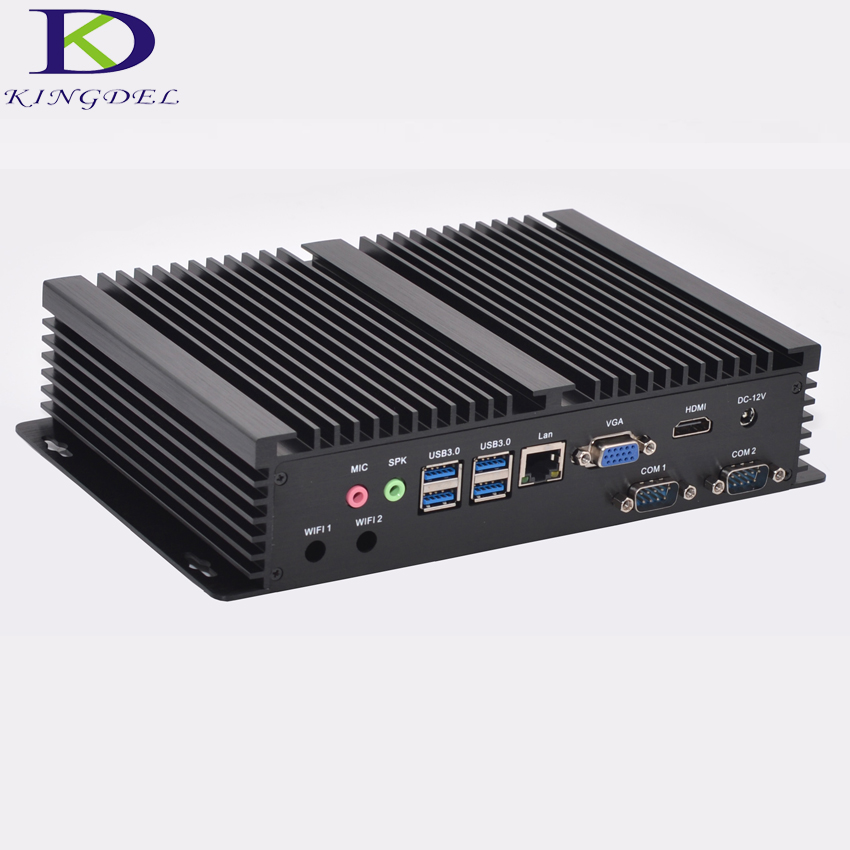 Windows 10 cheap fanless mini industrial pc 16G RAM 256G SSD 1TB HDD Intel i5 4200u