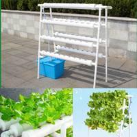 72 Holes Hydroponic System Indoor Garden Plant Grow Kit Nursery Pot Vegetable Water Planting Soilless Seedling Flower Stand 220V