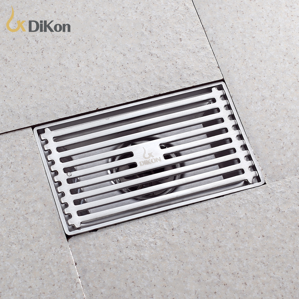 Dikon 304 stainless steel brushed bathroom kitchen outdoor for Ground drain