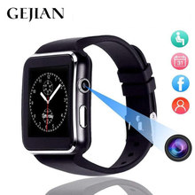GEJIAN montre intelligente Bluetooth hommes carte Sim TF écran incurvé 1.54 pouces alliage couple bracelet intelligent sport fitness podomètre(China)