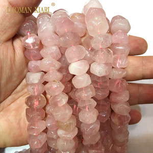 """Image 5 - High Quality 100% Natural Stone Beads Rose Pink Quartz Beads For Jewelry Making DIY Bracelet, Necklace Size 9 14 mm Strand 15"""""""