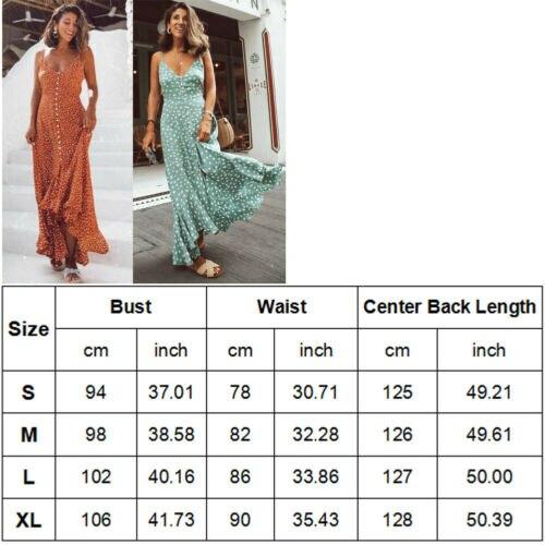 Summer Polka Dot Strap Dresses 2019 New Women Summer Casual Sleeveless V Neck Loose Long Polka Dot Maxi Dress in Dresses from Women 39 s Clothing