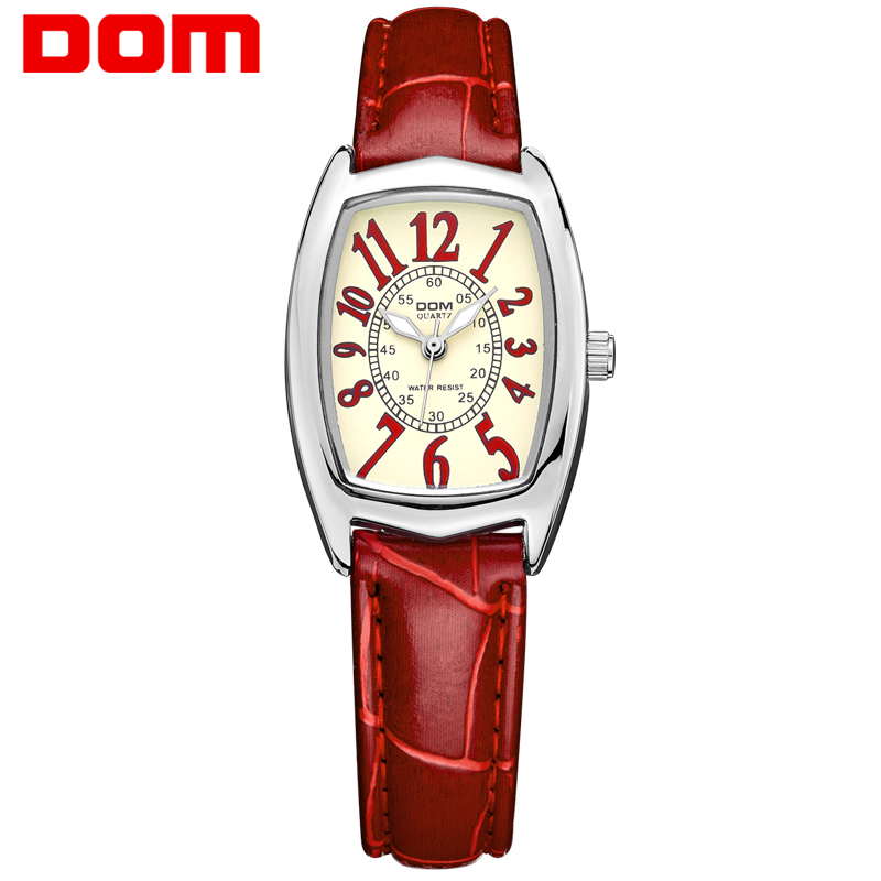 DOM luxury brand waterproof style watch quartz leather women reloj de las mujeres watches women велосипед stels challenger v 2016