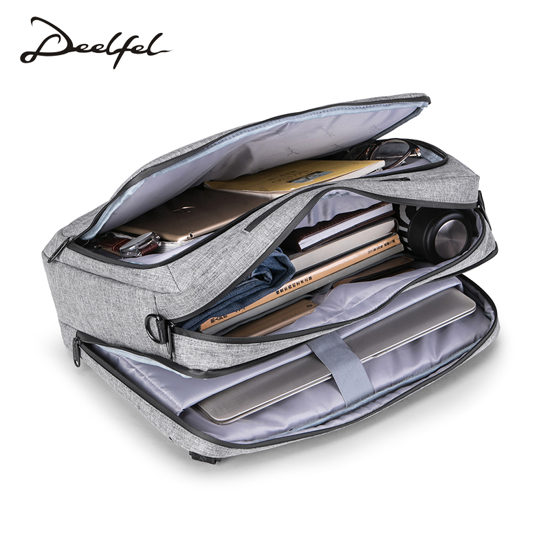 DEELFEL New Backpack Men Backpack Fashion Trend Youth Travel bag men Light Simple Schoolbag Large Capacity Computer Bag waterproof fashion simple men backpack