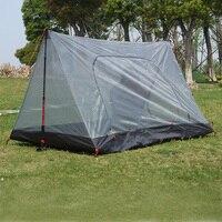 Yürüyüşçüler Çift 3F hafif çok amaçlı anti-sivrisinek gazlı bez çadır İç çadır/kanopi (şimdi stok alt koyu gri olduğunu)