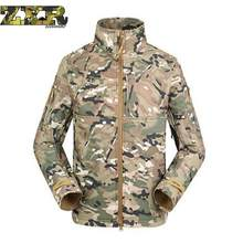 Autumn Mens Military Camouflage Fleece Jacket Army Tactical Clothing Multicam Male Camo Windbreaker Outerwear fleece lining Coat(China)