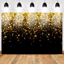 Light Bokeh Gold Black Glitters Love Heart Child Photography Background Customized Backdrops Photographic For Photo Studio(China)