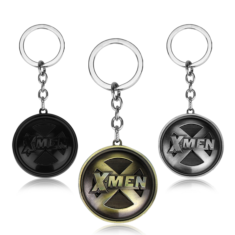 MQCHUN Fashion Movie Jewelry Marvel Comics X-Men Keychain Superman Keyring Holder Gift Chaveiro Car Key Chain Pendant Gift image