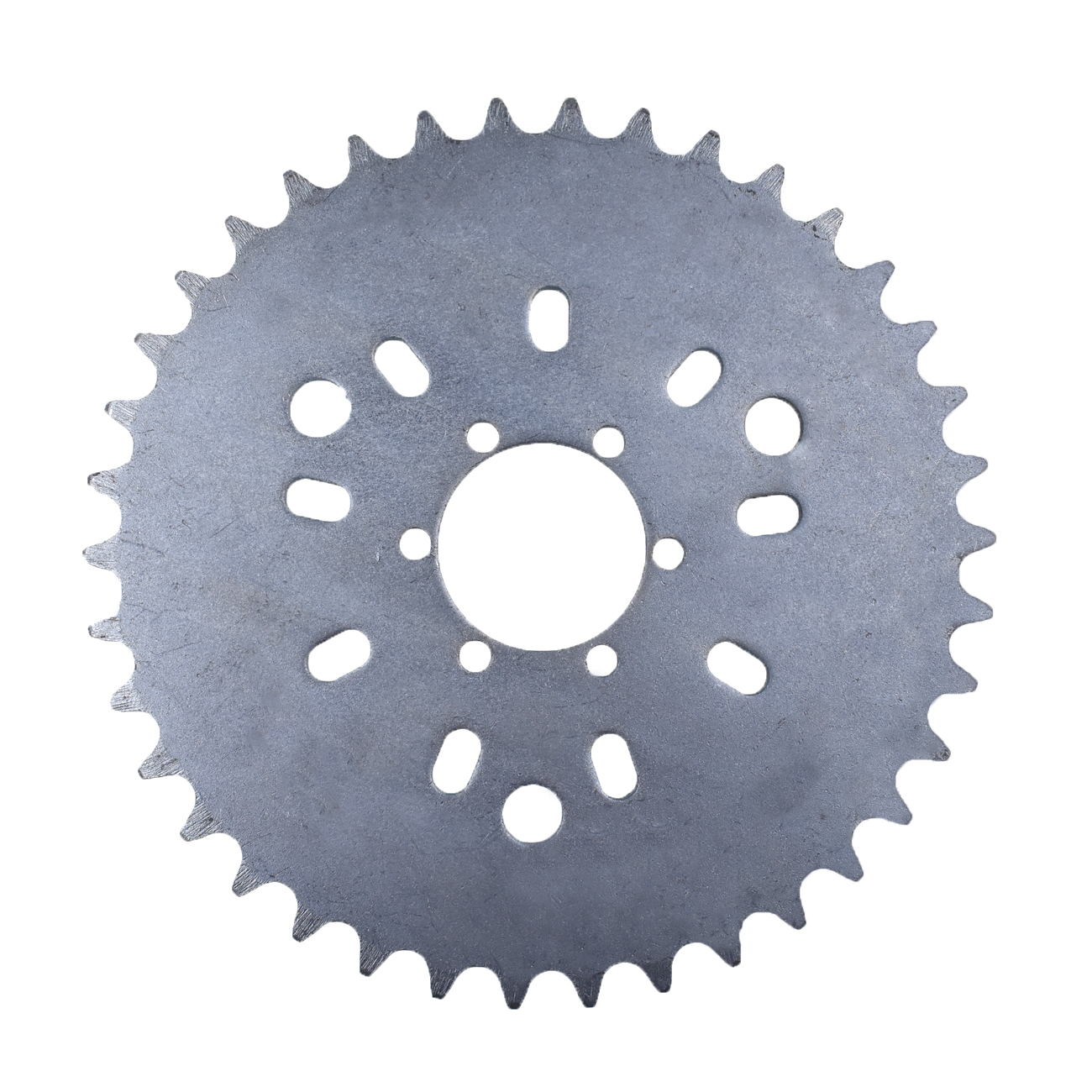 Silver CNC Adapter <font><b>38T</b></font> <font><b>Sprocket</b></font> Fit 49cc 50cc 66cc 80cc Motorized Bike image
