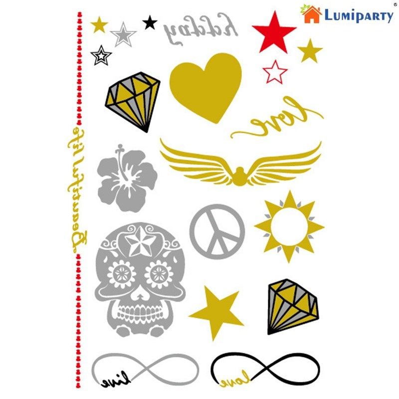 LumiParty Bride Temporary Tattoo Bachelorette Party Accessories Bridesmaid Bridal Shower Wedding Decoration Party Decors-30