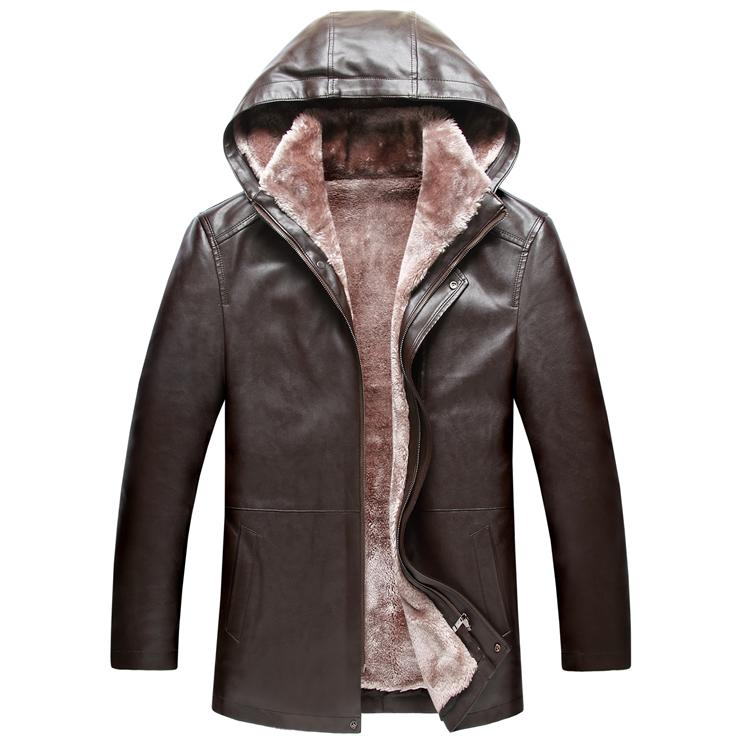 2016 new winter fur men s leather font b jacket b font in a long paragraph