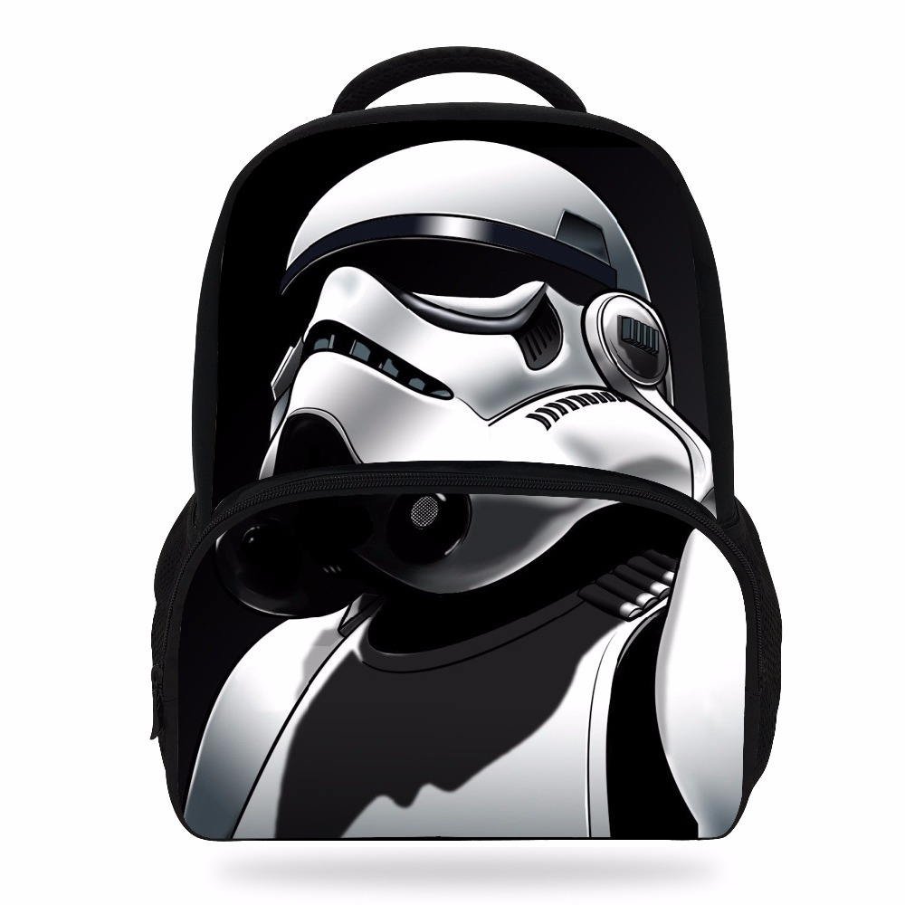 2018 New 14Inch Popular Cartoon School Backpack For Children Star Wars Bag For Kids Boys Girls Teenagers
