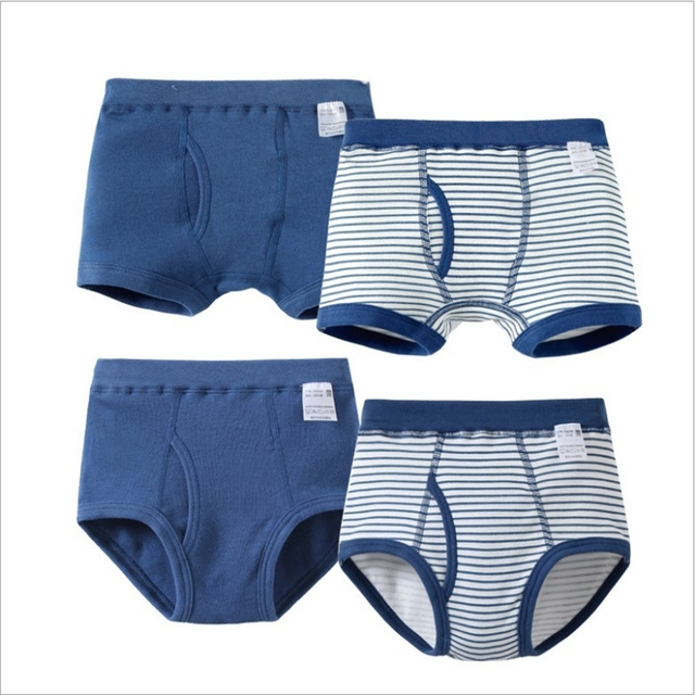 4a5c6b1ab1f51 US $12.21 |4 Pcs/Lot Kids Boys Briefs and Boxers Set Soft Organic Cotton  Children's Boxer Shorts Panties Kid Boy Underwear Baby Clothes on ...