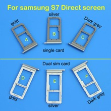 Sim Card Tray  For Samsung  S7   Single / Dual Signal / Dual Sim Card Reader Holder Slot Tray the new motherboard for intel 945gv 775 pin ddr2 graphics card sound card card support for single and dual core
