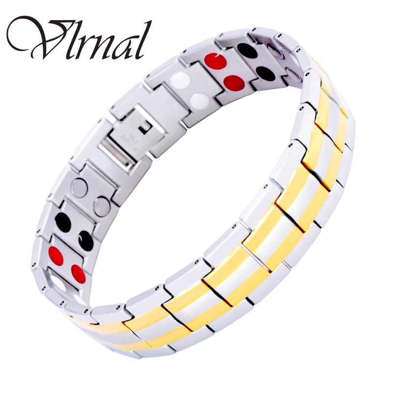 Virnal Fashion Men's Jewelry 2 colores diseño energía pulsera para - Bisutería - foto 1