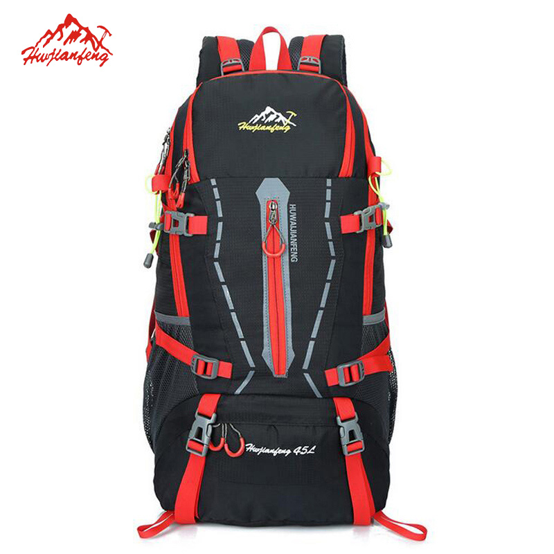 ФОТО 40L Professional Men's Outdoor Sport Bag Large Shoulders Backpack Waterproof Camping Hiking Mochila Trekking Bags 35X60X25 cm