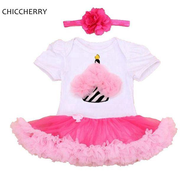 Novo Design Flor Queque Vestido Headband Do Bebê Menina Rendas Tutu Newborn Bebe Infantil Vestido Vestidos de Festa de Casamento Roupa Dos Miúdos