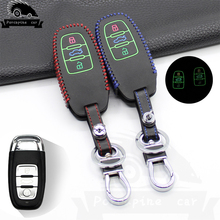 Noctilucent leather Car Key case Protection Cover for Audi A4L A5 A6 A6L Q5 S5 S7 Protect Case Covers Car Styling