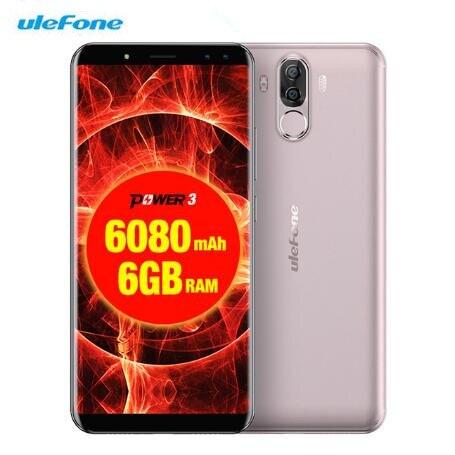 Ulefone Power 3 Android 7,1 Octa Core 6080mAh 6GB RAM + 64GB 21M + 13MP Facial ID 6,0 18:9 FHD teléfono inteligente 4 cámaras 4G teléfonos celulares