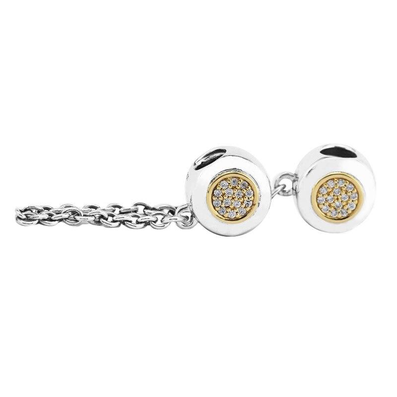 Passt Für Pandora Armbänder Unterschrift Sicherheit Kette Charms mit 14 K Reales Gold 100% 925 Sterling Silber Schmuck perlen Freies Verschiffen-in Perlen aus Schmuck und Accessoires bei  Gruppe 3