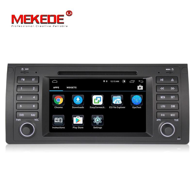 Lecteur DVD de navigation GPS de voiture MEKEDE Quad Core Android 8.1 pour BMW E39 E53 X5 M5 avec wifi BT autoradio livraison gratuite - 4