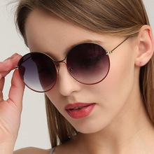 Metallic Circular Frame Hollowed-out Sunglasses Retro Round Ocean Piece sunglasses Eyewear Travel Eye Accessory